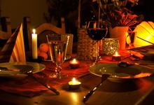 Abendessen, Leidenschaft und Liebe