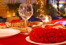 Candle Light Dinner im Restaurant