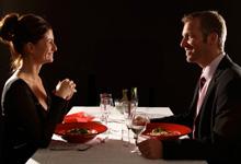 Zweisamkeit im Dunkelrestaurant