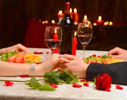 Candle Light Dinner im Vergleich