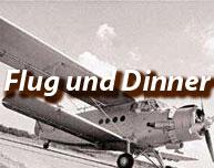 Flug und Dinner