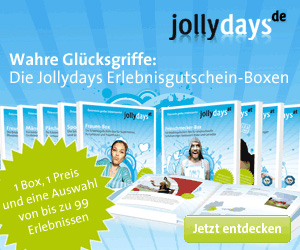 Angebote von Jollydays zu den Themen Erlebnisdinner, Erlebnisboxen und weiteren Angeboten