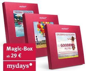 Das Erlebnisportal Mydays bietet eine Vielzahl von Erlebnisboxen und Gutscheine zum Bereich der Dinner an.